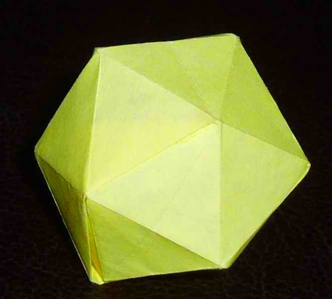 Modular Origami: How to Make a Truncated Icosahedron, Pentakis ... | 596x661